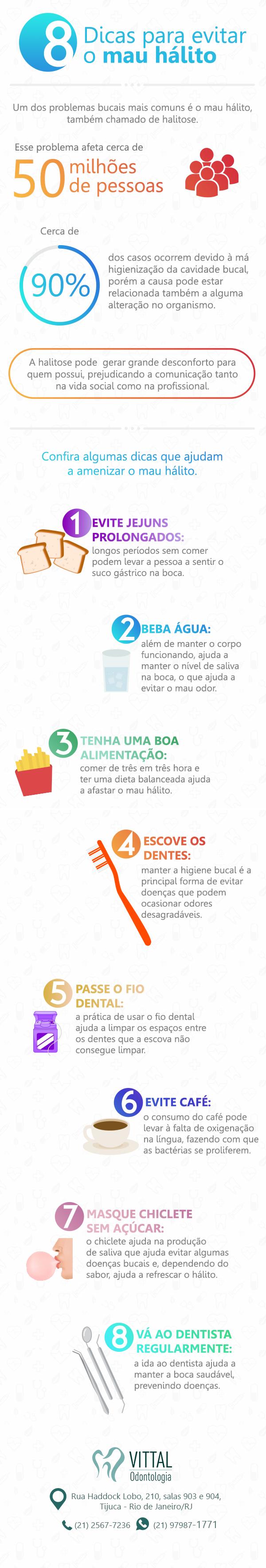 8 Dicas para evitar o mau hálito | Vittal Odontologia